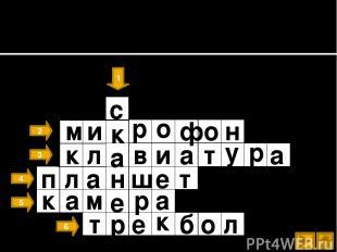 Устройства ввода информации 1 2 3 4 5 6 м и р о ф о н с к а н е р к к в и а л а