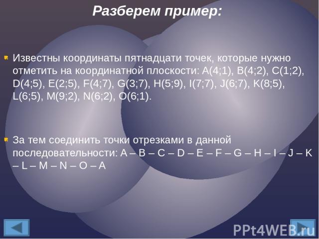 Известны координаты пятнадцати точек, которые нужно отметить на координатной плоскости: A(4;1), B(4;2), C(1;2), D(4;5), E(2;5), F(4;7), G(3;7), H(5;9), I(7;7), J(6;7), K(8;5), L(6;5), M(9;2), N(6;2), O(6;1). За тем соединить точки отрезками в данной…