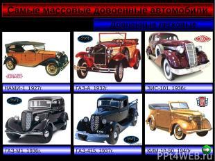 Самые массовые довоенные автомобили Довоенные легковые НАМИ-1. 1927г. ГАЗ-А. 193