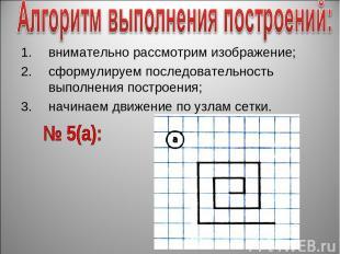 внимательно рассмотрим изображение; сформулируем последовательность выполнения п