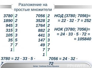 Рациональные числа Автор: Семёнова Елена Юрьевна Любое рациональное число можно