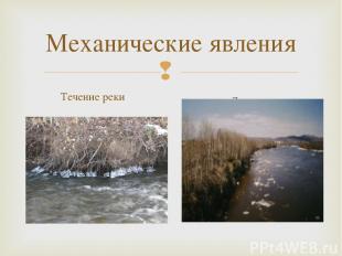 Механические явления Течение реки Ледоход