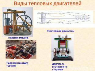 Виды тепловых двигателей