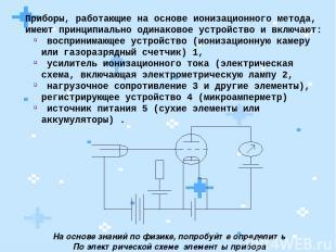 Приборы, работающие на основе ионизационного метода, имеют принципиально одинако