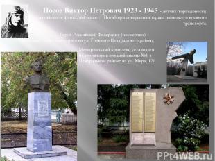 Носов Виктор Петрович 1923 - 1945 - лётчик-торпедоносец Балтийского флота, лейте