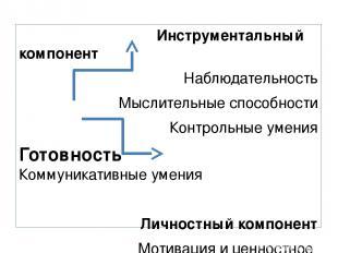 Инструментальный компонент Наблюдательность Мыслительные способности Контрольные