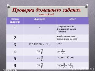 Проверка домашнего задания тпо.стр.41-43 Аверина С.К.
