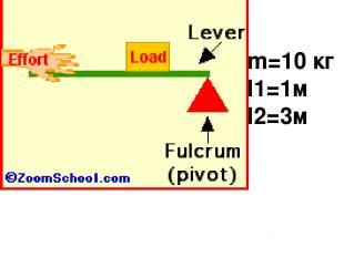 m=10 кг l1=1м l2=3м
