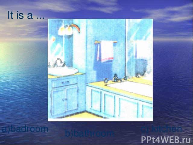 It is a ... b)bathroom