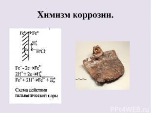Химизм коррозии.