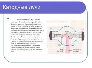 Катодные лучи На основании части этих свойств английские физики во главе с сэром