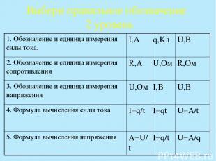 Выбери правильное обозначение 2 уровень 1. Обозначение и единица измерения силы