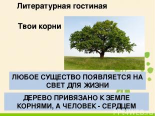 Литературная гостиная М.М.Пришвин «Кладовая солнца»