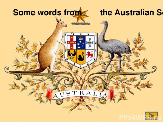 Some words from the Australian Song