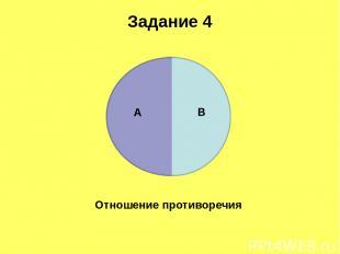 Задание 4 Отношение противоречия А В