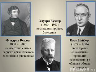 Фридрих Веллер 1800 – 1882) осуществил синтез первого органического соединения (