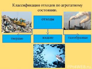 Классификация отходов по агрегатному состоянию. отходы твердые жидкие газообразн