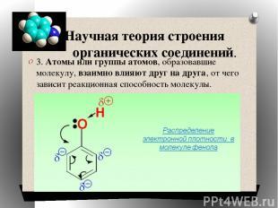 Научная теория строения органических соединений. 3. Атомы или группы атомов, обр