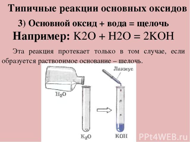 Обобщение темы: Тест: «Правильный ответ» 1) Какой из оксидов несолеобразующий: а) P2O5 б) NO в) SO3 г) CaO 2) Какой из предложенных оксидов кислотный: а) K2O б) MgO в) CO2 г) Na2O 3) Какой класс соединений образуется при взаимодействии кислотного ок…