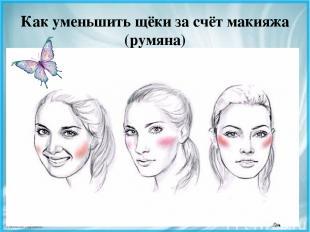 Как уменьшить щёки за счёт макияжа (румяна) FokinaLida.75@mail.ru