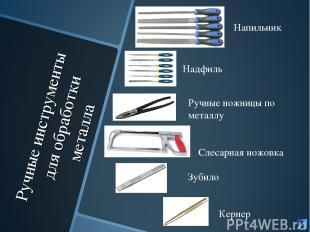 Ручные инструменты для обработки металла Напильник Надфиль Ручные ножницы по мет