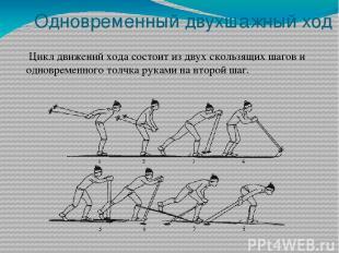 Одновременный двухшажный ход Цикл движений хода состоит из двух скользящих шагов