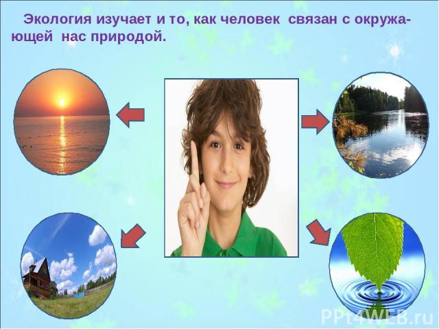 Экология изучает и то, как человек связан с окружа-ющей нас природой.
