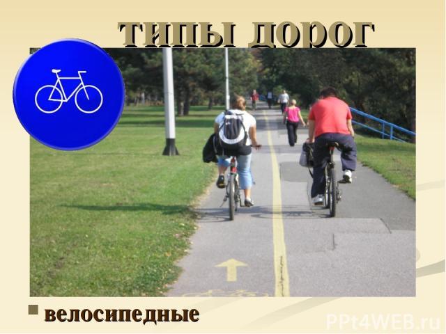 типы дорог велосипедные