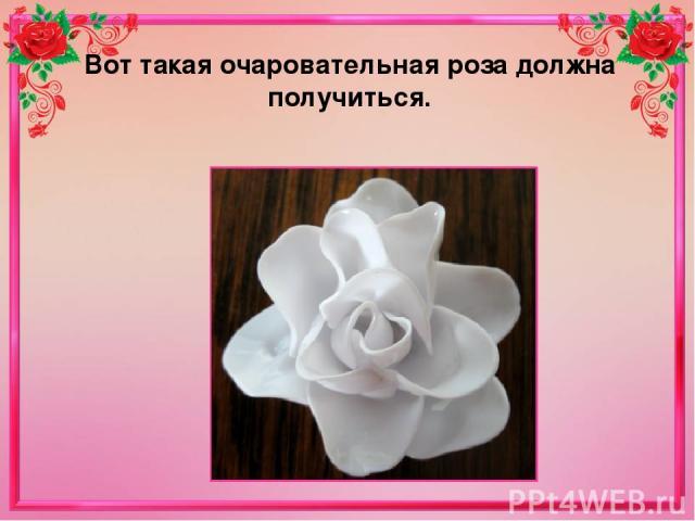 Вот такая очаровательная роза должна получиться.