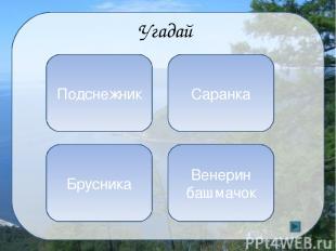 Кроссворд Самый большой населенный остров Байкала 1 5 4 2 3 Б А Р Г У И З Н О Л