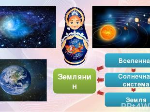 Вселенная Солнечная система Земля Землянин