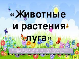 «Животные и растения луга» интерактивный фотоальбом Исаева Анжелика Владимировна