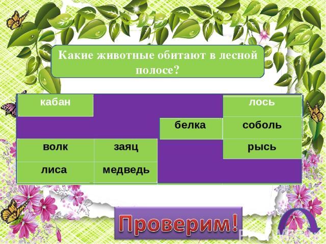 Дорогой друг! Предлагаем тебе проверить твои знания по теме «Леса России» Инструкция Прочитай задание. Из предложенных вариантов выбери правильные. Проверь выполнение, нажав на слово «Проверим». Переходи на следующий слайд, щёлкнув по управляющей кн…
