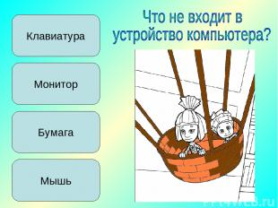 Клавиатура Монитор Мышь Бумага