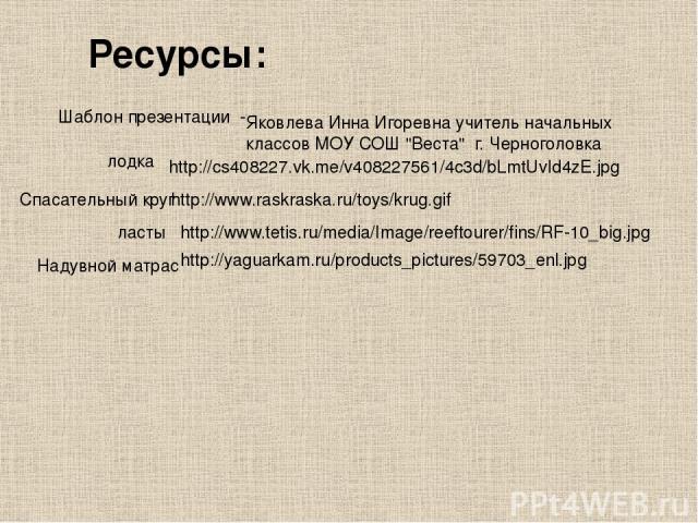 Яковлева Инна Игоревна учитель начальных классов МОУ СОШ
