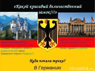 «Какой красивый величественный замок!!!» Замок Нойшванштайн переводится с немецк