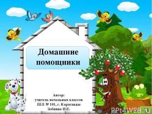 Домашние помощники Автор: учитель начальных классов ШЛ № 101, г. Караганды Зобни