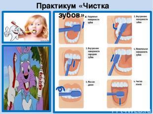 Практикум «Чистка зубов».