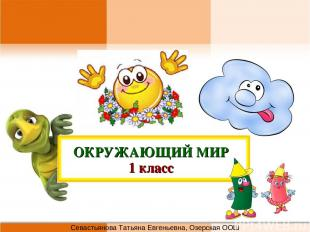 ОКРУЖАЮЩИЙ МИР 1 класс Севастьянова Татьяна Евгеньевна, Озерская ООШ