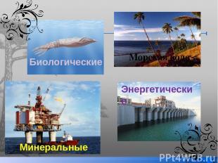 Морская вода Энергетические Минеральные Биологические
