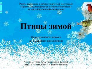 Птицы зимой Интерактивная книжка для младших школьников Автор: Петрова Е.А., учи