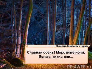 Славная осень! Морозные ночи, Ясные, тихие дни... Николай Алексеевич Некрасов
