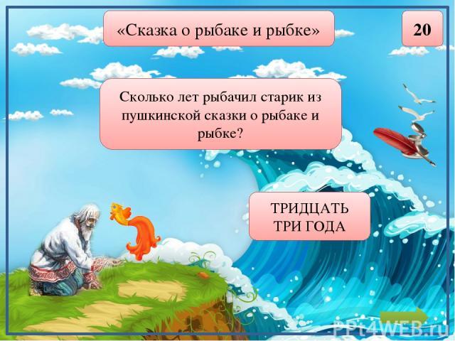 «Сказка о золотом петушке» 20 Сколько просьб было у мудреца-звездочёта к царю Дадону? ОДНА polzyukowa@yandex.ru