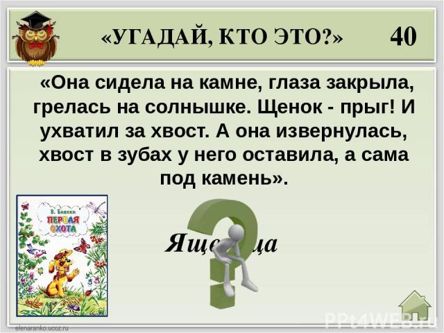 20 Как звали в одной из сказок В. Бианки тетерева , который напугал лисицу и куницу? «Отчего? Как? Что? Зачем? Почему?» Терентий