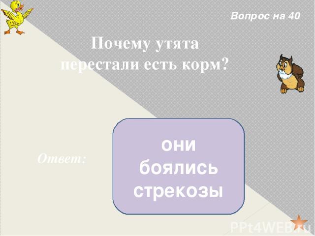 Вопрос на 20 Назовите фамилию автора произведения. Ответ: Евгений Чарушин