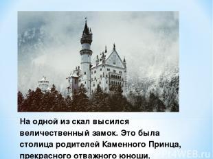 На одной из скал высился величественный замок. Это была столица родителей Каменн