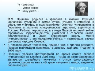 М.М. Пришвин родился 4 февраля в имении Хрущёво Орловской губернии в семье купца