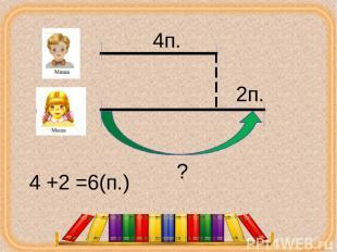4п. 2п. ? 4 +2 =6(п.) corowina.ucoz.com