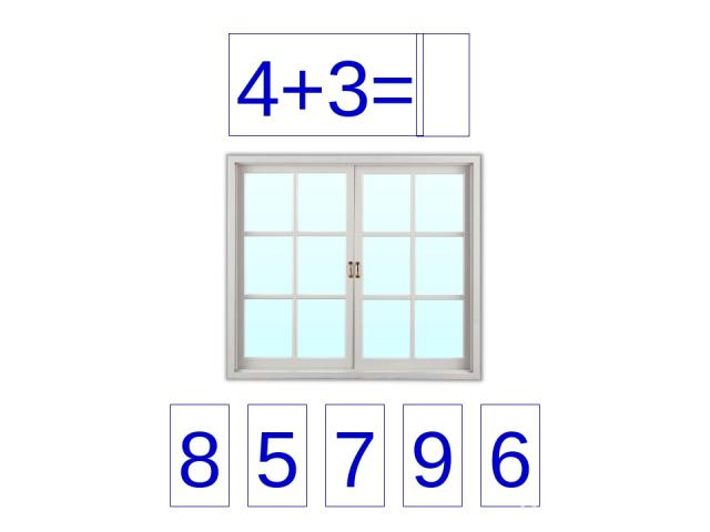 4+3= 8 5 7 9 6