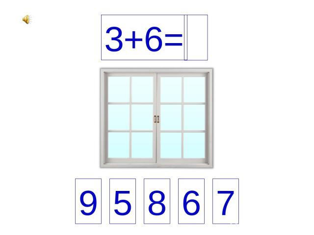 3+6= 9 5 8 6 7